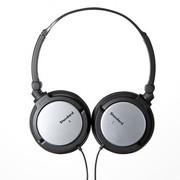 其他 山业SAWNA MM-HPST03 折叠式立体声耳机 适合iPhone、平板、PC使用 黑加银