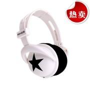 其他 【299-50】星星耳机(MIX-STYLE)头盔式耳机 黑星星款5颜色 白底黑星