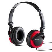 其他 山业SAWNA MM-HPST03 折叠式立体声耳机 适合iPhone、平板、PC使用 黑加红
