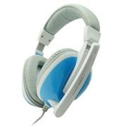 海威特 HV-H2086d 时尚亮丽头戴式电脑语音耳机(双插头) 蓝色