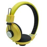 海威特 HV-H328F 时尚音乐手机耳机/头戴式/通话功能/ 黄色(海外热销)