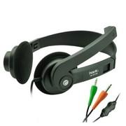 海威特 HV-ST132 经典头戴式电脑语音耳机(双插头) 黑色