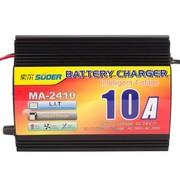 索尔 MA-2410A 24V 10A 四段式 蓄电池充电器 汽车电瓶充电器 MA2410/24V/10A