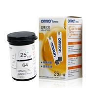 欧姆龙 血糖仪试纸25片+25采血针适用于230/231/232