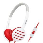 硕美科 声籁(SALAR) EM310i 头戴式手机线控音乐耳机 时尚立体声耳麦 适用苹果/HTC/华为/三星等 红色