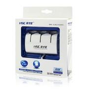 先科 带独立开关 一拖三点烟器 汽车双USB一分三电源转换器 车载充电器 AY-T11 白色