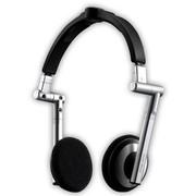 酷冷 贴耳式耳机 (HDSS专利技术/3D立体绿色音效/线控/折叠易携带) 银色