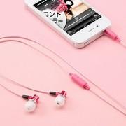 SANWA MM-ESST01P 智能线控入耳式耳机 可线控耳机通话 粉色