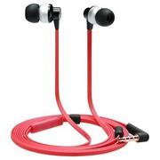TrekStor S200 德国品牌 专业发烧神器 面条式线控带麦手机入耳耳机 完美音质 红色