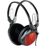 齐心 QE6101 头戴式全罩音乐耳机 坚固轻便更耐用 带线控调音 (黑、橙色 颜色随机)