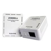 ZINWELL PLQ-5100两只装 电力猫500M电力线适配器 白色
