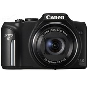 佳能 SX170 IS 数码相机 黑色(1600万像素 3英寸液晶屏 16倍光学变焦 28mm广角)
