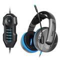 硕美科 G989HD限量版 头戴式游戏耳机  全球首款物理7.1限量版耳机 高保真USB插头 黑灰色