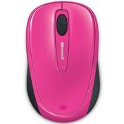 微软 无线蓝影便携鼠标3500 蜜桃红