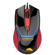 新贵 N400 有线游戏发光鼠标 红黑色 USB