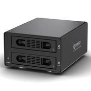 ORICO 3529US3-C 全铝免工具3.5寸SATA双硬盘盒对拷硬盘盒 黑