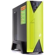 超频三 飞扬F1 HTPC电脑机箱 支持USB3.0,背部走线 立体式 办公更方便(荧光绿)