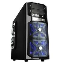 爱国者 雷霆战将HU-1366 中塔游戏机箱 黑色(USB3.0/电源下置/背部走线/标配三个静音风扇)产品图片主图