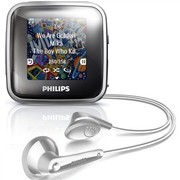 """飞利浦 SA2SPK02S/93 2G 银色 MP3 播放器 全新的""""FullSound""""EQ技术 可拆卸运动背夹"""