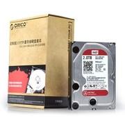 ORICO SDK-20WR西部数据WD红盘 2TB台式机硬盘套装 SATA3.0 6Gb/s硬盘7200转