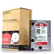ORICO SDK-30WR西部数据WD红盘 3TB台式机硬盘套装 SATA3.0 6Gb/s硬盘7200转