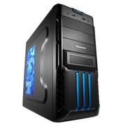 至睿 复仇者V6 3.0版机箱(原生USB3.0+全黑化+游戏面板)蓝色