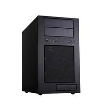 银欣 TJ08B-E M-ATX机箱 黑色(铝面板/正压差防尘/静音/带18CM穿甲弹风扇/USB3.0)产品图片主图