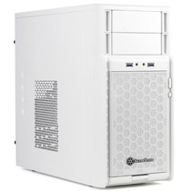 银欣 SST-PS08W 小机箱(正压差设计/散热/防尘)(白色)产品图片主图