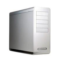 银欣 FT02S ATX机箱 银色(带4颗风扇/静音棉/全铝4.5mm一体成形/垂直风道/正压差防尘)产品图片主图