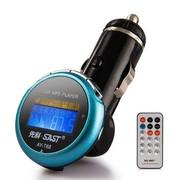 先科 T68 车载MP3播放器 4G内存 汽车用mp3点烟器式 蓝色 标配(4G)