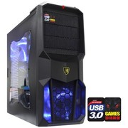 撒哈拉 走线大师GL6玩家版 游戏机箱(原生USB3.0/完美背线/侧透/标配2把LED大风扇)黑色