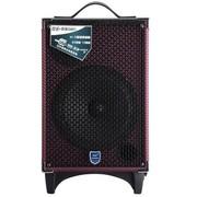 双诺 声美Q801 8寸户外拉杆音箱 带无线麦克风广场舞音响 便携式大功率扩音器 深红色