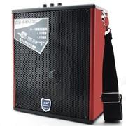 双诺 声美HJ-202 6.5英寸低音便携式插卡音箱 户外晨练背带音响 大功率扩音器 红色