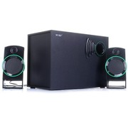 索爱 SA-T2 2.1多媒体有源台式PC电脑音箱 木质音响 家用影院(黑色)