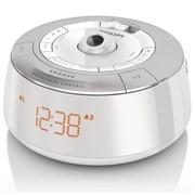 飞利浦 AJ5030/93 LED时钟投影双重闹铃FM收音机 (银白色)