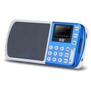 索爱 S-198 便携式立体声插卡数字点歌数码音箱 宝石蓝