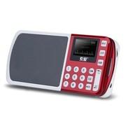 索爱 S-198 便携式立体声插卡数字点歌数码音箱 可乐红