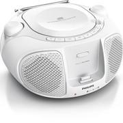 飞利浦 AZD102W 支持MP3、CD、iPhone/iPod播放机 支持iPhone/iPod充电 FM播放 白色