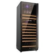 共好 STH-G120UB双温压缩机恒温红酒柜 黑皮纹 不锈钢门满层架