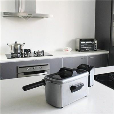 客浦 3L家用不锈钢电炸锅 油炸锅 油炸炉 可卸内胆 调时调温 DF5409产品图片5