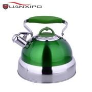 其他 HUANXIPO 德国不锈钢烧水壶5L大容量加厚复底彩色煮水壶鸣笛燃气电磁炉通用 青绿色