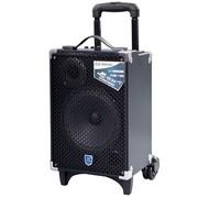 双诺 声美Q801 8寸户外拉杆音箱 带无线麦克风广场舞音响 便携式大功率扩音器 黑色