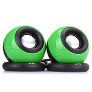 沐阳 MY201S 2.0声道 线控迷你USB电脑音箱 绿色