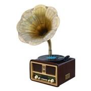 理丹 L9608 仿古留声机音箱 黑胶唱盘机USB播放器老式音响复古唱片机台式留声机