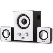 沐阳 MYK10 2.1电脑音箱 木质低音炮 白色