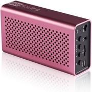 月光宝盒 爱国者(aigo)B08粉色 蓝牙无线免提通话,插卡重低音播放器,锂电 手机电脑可用小音箱