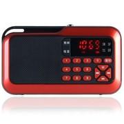环宇飞扬 F365 FM收音照明、TF卡、数字点歌便捷插卡、电脑、手机音箱 可乐红