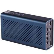 月光宝盒 爱国者(aigo)B08深蓝色 蓝牙无线免提通话 插卡重低音播放器 锂电 手机电脑可用小音箱