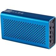 月光宝盒 爱国者(aigo)B08浅蓝色 蓝牙无线免提通话 插卡重低音播放器 锂电 手机电脑可用小音箱