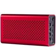 月光宝盒 爱国者(aigo)B08红色 蓝牙无线免提通话,插卡重低音播放器,锂电 手机电脑可用小音箱